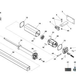 iilustration a components spare parts for swing operator faac 402 cbc sbs basic diagram [ 1754 x 1240 Pixel ]