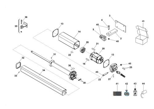 small resolution of iilustration a components spare parts for swing operator faac 402 cbc sbs basic diagram