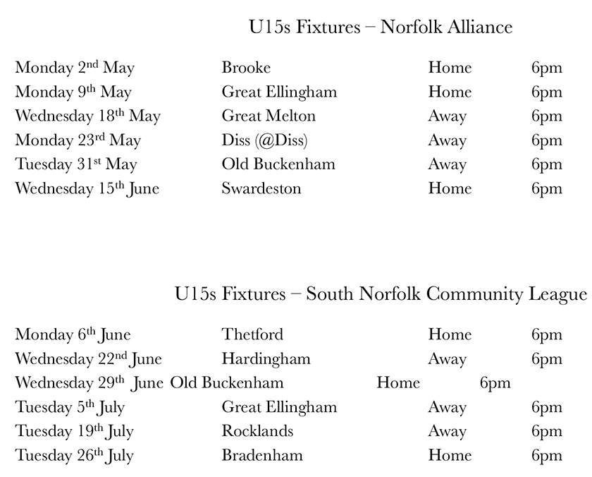 2016 fixtures Home away version NP