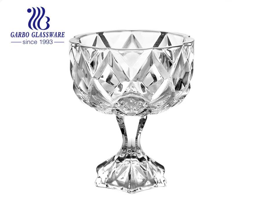5.12 inch custom logo sodalime glass fruit bowl