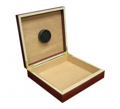 CHATEAU Cherry 20 Count Cigar Humidor w/ Humidifier