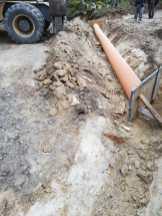 Excavadora trabajando en obra