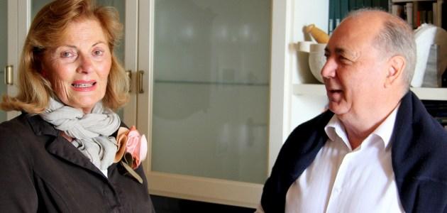 Maria Cristina Gnes (presidente neo-eletta) e Pierantonio Pelizzari (presidente uscente)