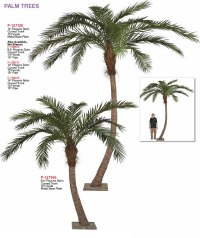 Very Tall Palm Trees for Indoor Decor: Artificial Indoor ...