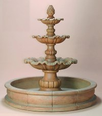 Garda 3-Tier Pond Outdoor Water Fountain: Water Fountains ...