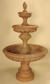 Italica 3-Tier Water Fountain: Lion Fountains