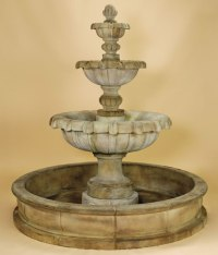 Jardin 3-Tier Pond Water Fountain for Outdoors: Water ...