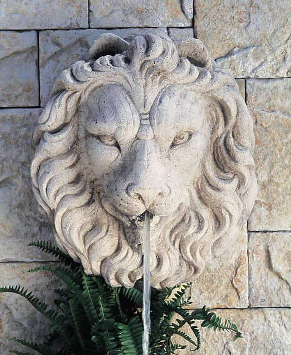 Regal Lion Head Water Fountain Wall & Tabletop
