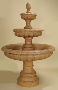 Talenti 3-Tier Fountain: Tall Tiered Water Features