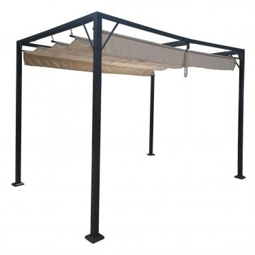 manhattan 3x2 15 metal gazebo with retractable roof
