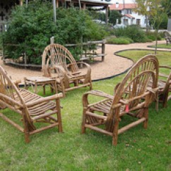 Rustic Outdoor Chairs 2013 Ford Explorer Captains Furniture Country Garden Style For Two And Loveseat Wooden On Grass