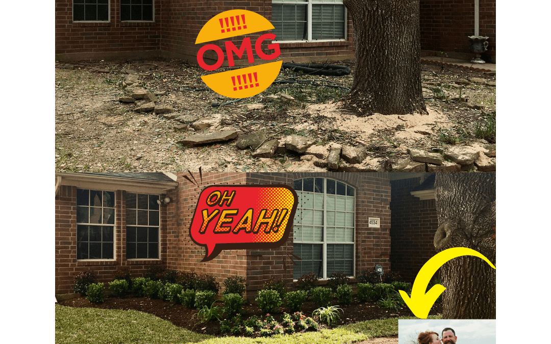 Before & After MAGIC! A landscaping makeover in Missouri City, Texas