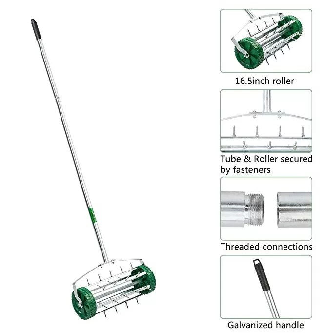 16.5 Inches Roller Heavy Duty Lawn Aerator With Securely