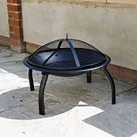 Round Fire Pit Lid Outdoor Garden Patio And Camping Log ...