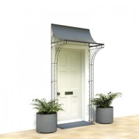 4 Foot Porch With Curved Sides - Iron Door Porches