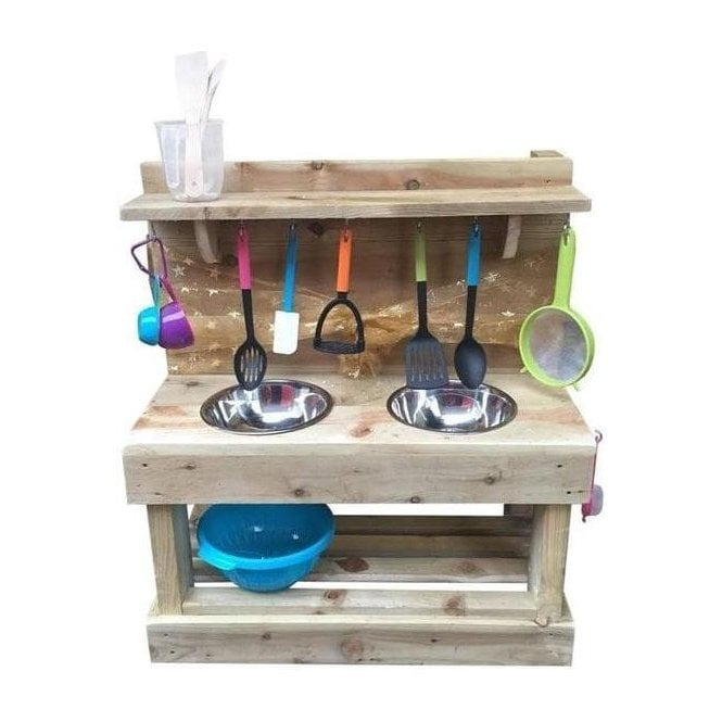 The Classic Double Dirt Mud Kitchen From Garden Shopping Uk
