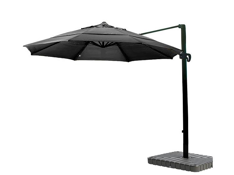 cantilever umbrella aluminum 11 foot sunbrella canvas black 5408