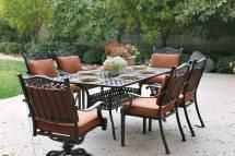 """Patio Furniture Dining Set Cast Aluminum 72"""" Table 7pc"""