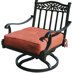 Swivel Rocking Patio Chairs Indoor Outdoor Chair Cushions Furniture Cast Aluminum Deep Seating Rocker