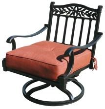 Patio Furniture Cast Aluminum Deep Seating Rocker Swivel