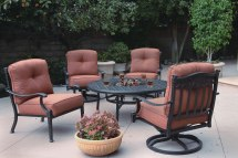 Patio Furniture Deep Seating Chat Group Cast Aluminum Ice
