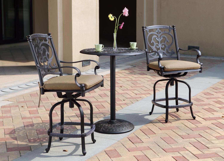 Patio Furniture Dining Set Cast Aluminum 30 Round