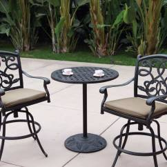Aluminum Bistro Chairs Chair Lifts For Stairs Canada Patio Furniture Set Cast 30 Quot Round