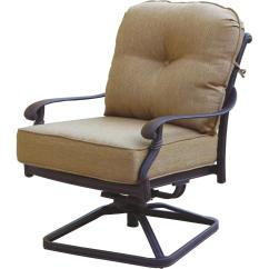Patio Rocker Chair Party Rentals Furniture Cast Aluminum Deep Seating Set
