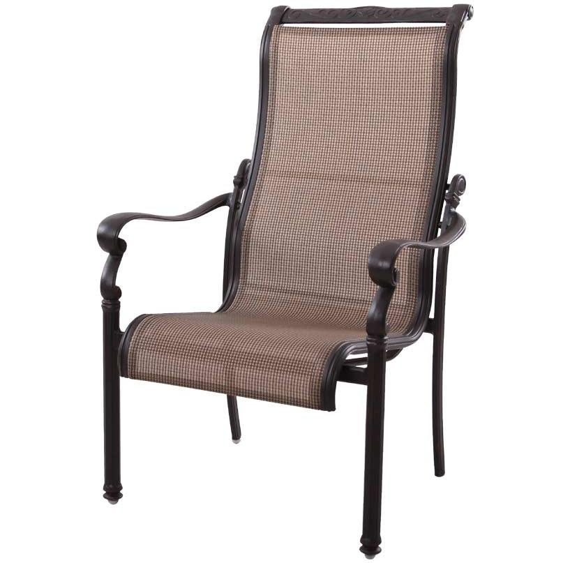 Patio Furniture AluminumSling Chairs Dining High Back