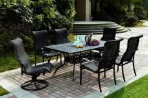patio furniture wicker aluminum