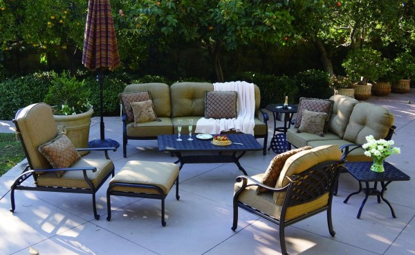 cast aluminum deep seating patio furniture Patio Furniture Deep Seating Sofa Cast Aluminum Nassau