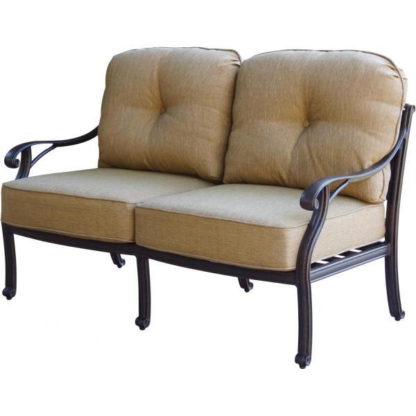 cast aluminum deep seating patio furniture Patio Furniture Deep Seating Loveseat Cast Aluminum Nassau
