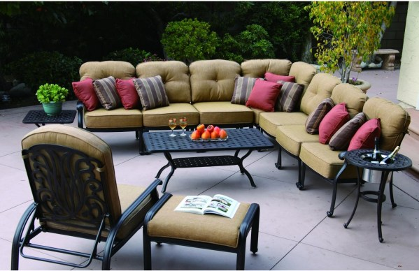 cast aluminum deep seating patio furniture Patio Furniture Deep Seating Sectional Cast Aluminum Lisse