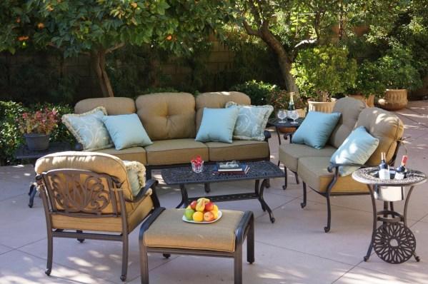 cast aluminum deep seating patio furniture Patio Furniture Deep Seating Set Cast Aluminum 8pc Lisse