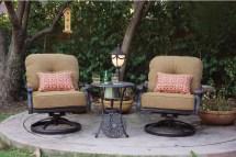 Aluminum Patio Set Swivel Rocker Chairs