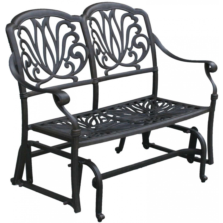 Patio Furniture Glider Bench Cast Aluminum Lisse