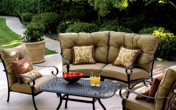 cast aluminum deep seating patio furniture Patio Furniture Deep Seating Sectional Cast Aluminum Set