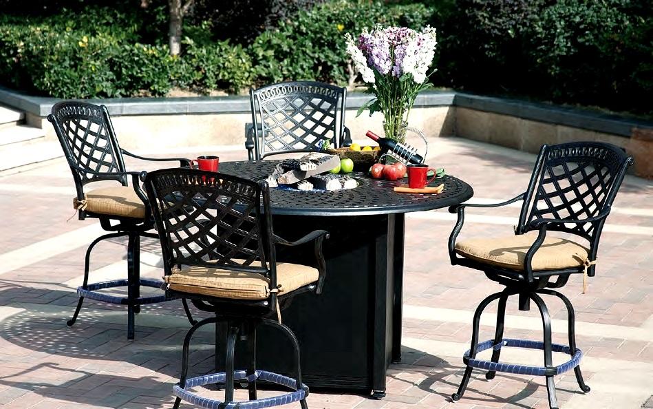 Patio Furniture Dining Set Cast Aluminum 60 Round Counter