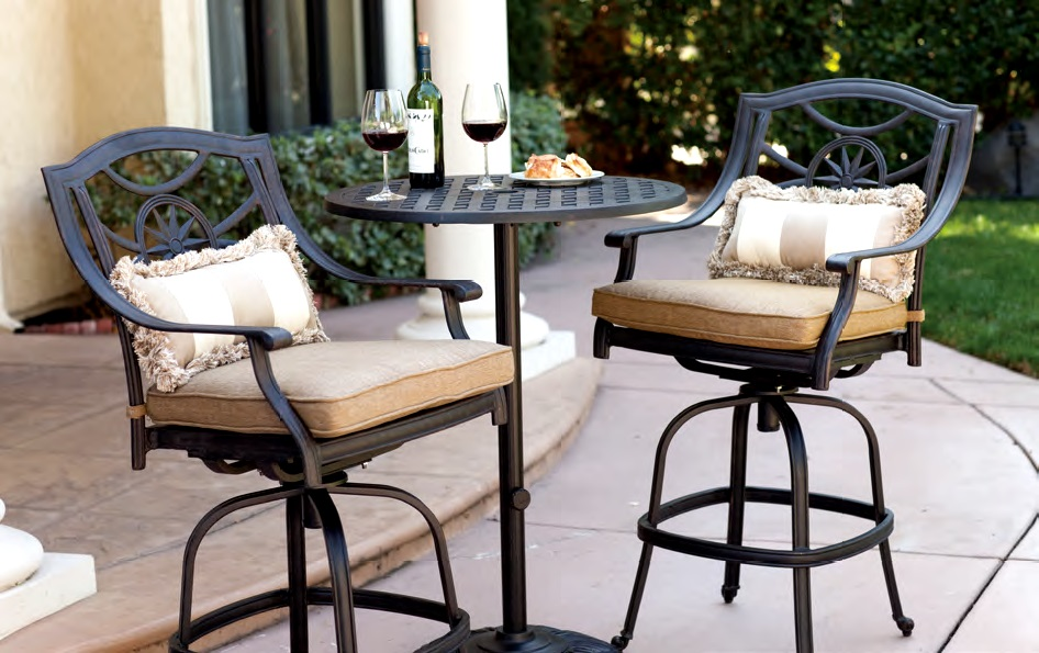 Patio Furniture Bistro Set Cast Aluminum 30 Round