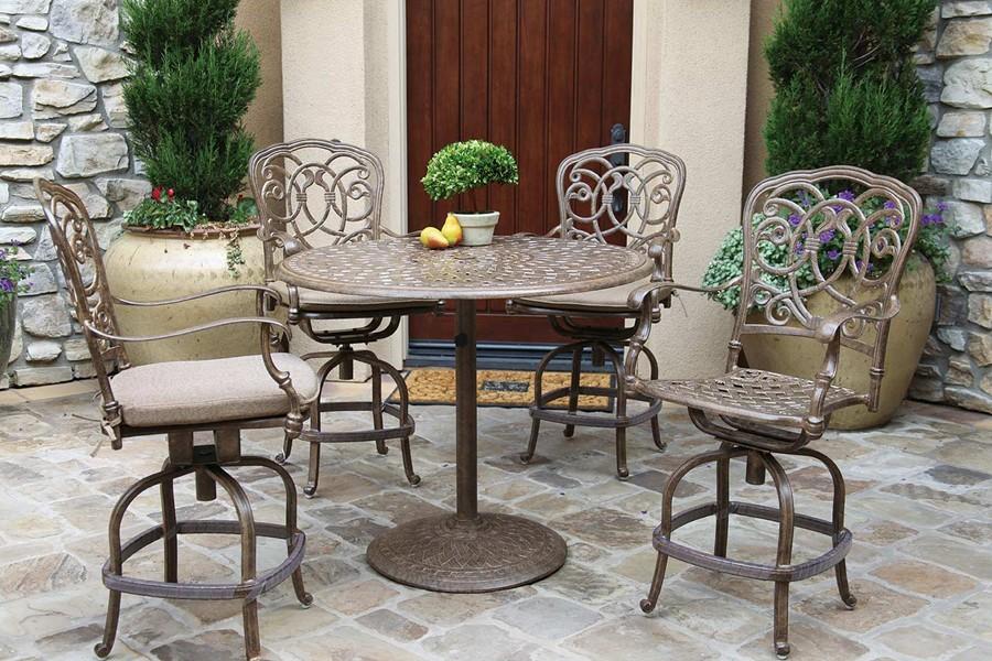 Patio Furniture Dining Set Cast Aluminum 42 Round