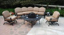 patio furniture deep seating sectional