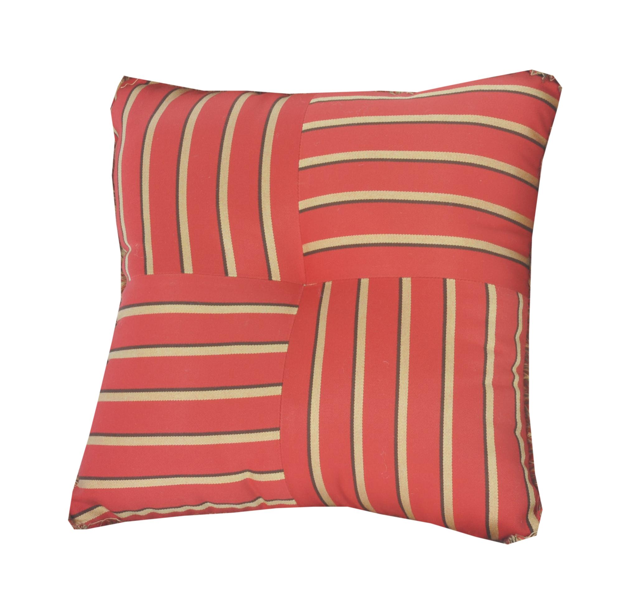 Quilted Throw Pillow IndoorOutdoor 16 Square Sunbrella
