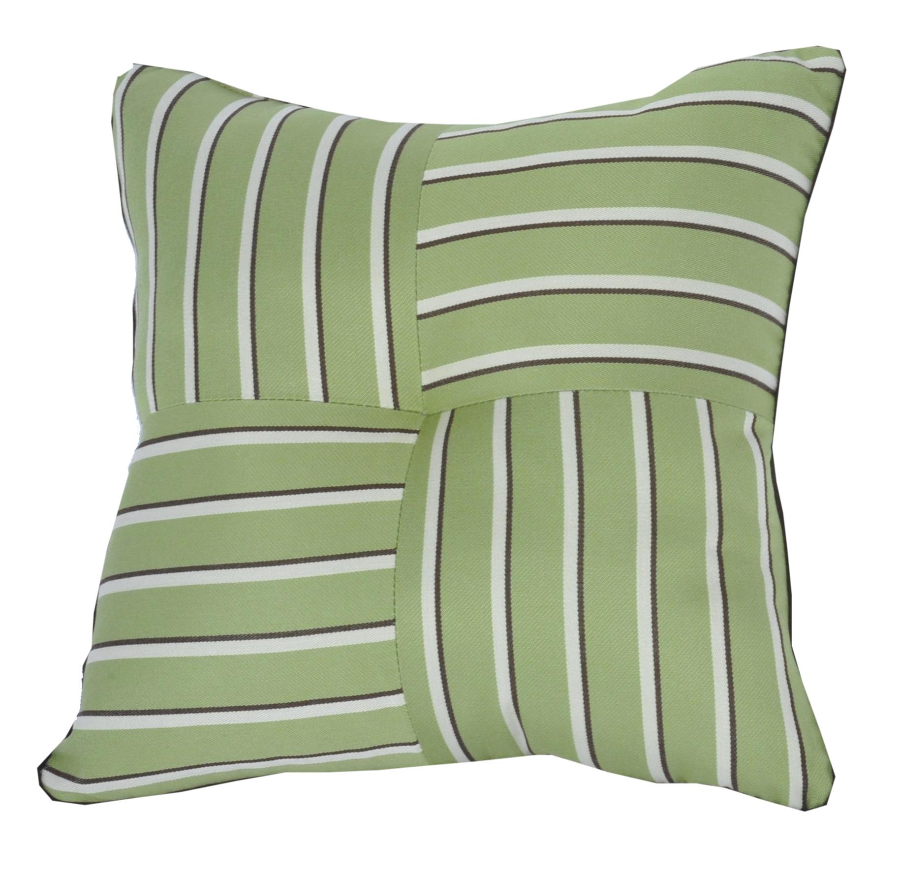 Quilted Throw Pillow IndoorOutdoor 24 Square Sunbrella