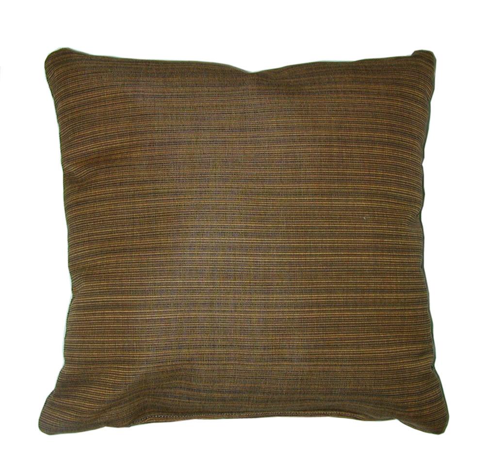 Throw Pillow IndoorOutdoor 17 Square Sunbrella Stripe