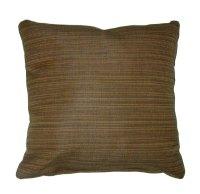 """Throw Pillow Indoor/Outdoor 17"""" Square Sunbrella Stripe"""