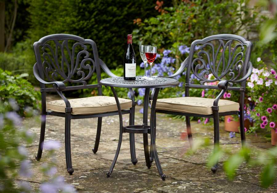 two seater garden table and chairs folding beach walmart amalfi 2 cast aluminium bistro set uk - £325 | garden4less shop