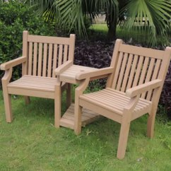 2 Seater Love Chair To Help Baby Sit Up Sandwick Winawood Wood Effect Seat Teak Finish Image Of