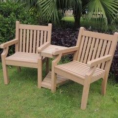 2 Seater Love Chair Ebay High Sandwick Winawood Wood Effect Seat Teak Finish Image Of