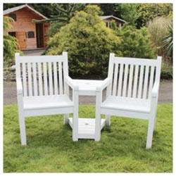 2 seater love chair nursery glider rocking sandwick winawood wood effect seat white 368 99 small image of