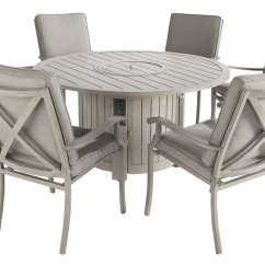 Low Chairs For Fire Pit Hickory Chair King Beds Portland Round 6 Seater Dining Set With 1225 5